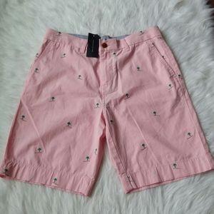 NWT Men's Tommy Hilfiger Pink Palm Tree Shorts 31